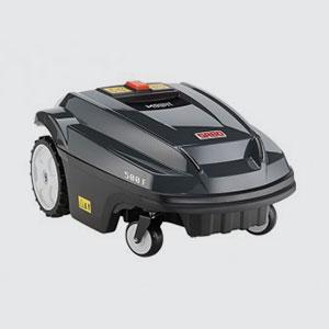 Roboter-Mäher <br>SABO Mowit 500 F  <br>Arbeitsfläche: 1800m2  <br>Schnittbreite: 32cm  <br>Mähezeit/Ladezeit: 60/60min  <br>Schnitthöhe: 19-102mm, manuell <br>Lautstärke: 69dB
