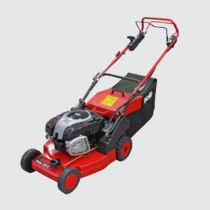 Rasenmäher <br>z.B. Solo 550 R  <br>5.5 PS Basco Motor  <br>Schnittbreite 48 cm  <br>Grasfangsack 62 lt.  <br>Radantrieb  <br>Aluminium-Gehäuse