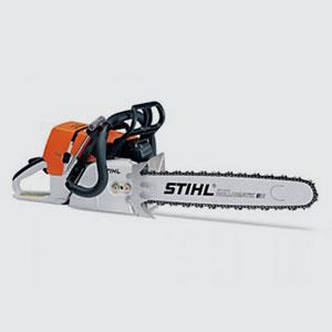 Motorsägen <br>z.B. Stihl MS 460  <br>- Hubraum 76.5 ccm  <br>- 6.0 PS  <br>- Schnittlänge 45/50 cm
