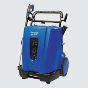 Hochdruckreiniger<br>z.B. Neptun 2-41  <br>- Heisswasser  - Pumpendruck 190 bar  <br>- Wassermenge 780 lt. / Std.  <br>- Spannung 400 Volt  <br>- Leistung 5.1 kW